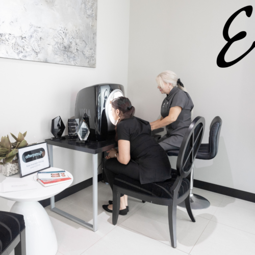 Two women at Esteem clinic